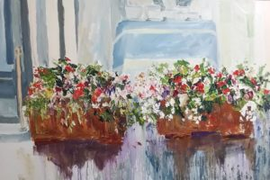 Patricia Haftar Underpainting Series: StreetScapes of Niagara on the Lake # 14