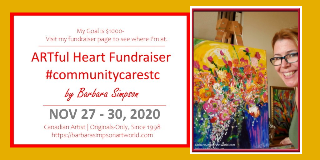 ARTful Heart Fundraiser by Barbara Simpson – Supporting St. Catharines Community Cares