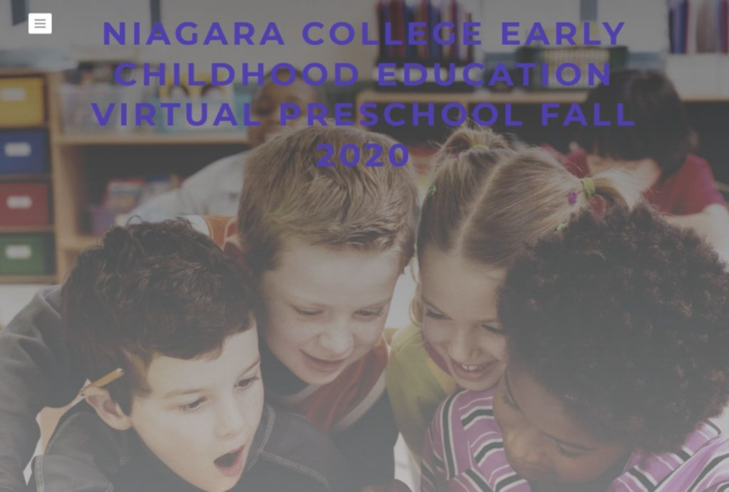 Niagara College Early Childhood Education program launches Virtual Preschool