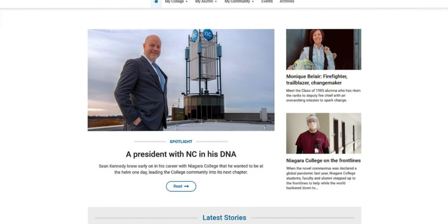 Niagara College launches new encore magazine website