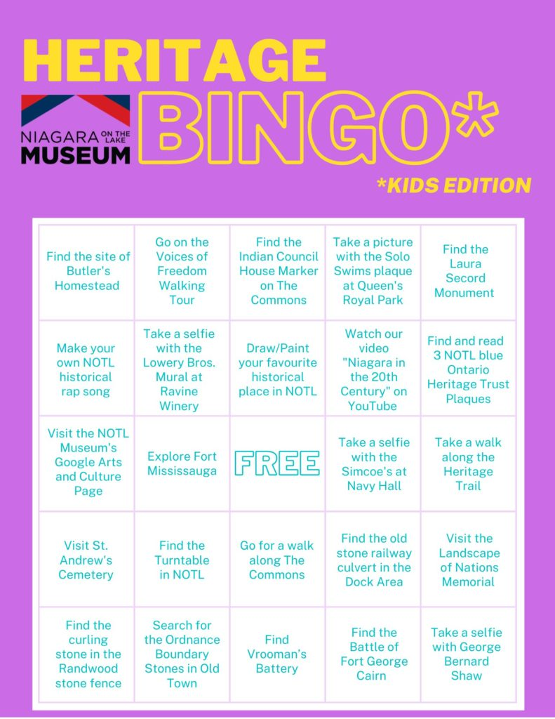 Heritage BINGO Kids Edition