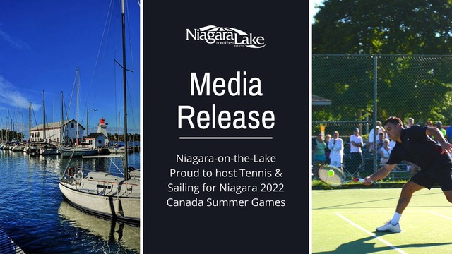 Niagara-on-the-Lake Proud to Host Tennis & Sailing for Niagara 2022 Canada Summer Games