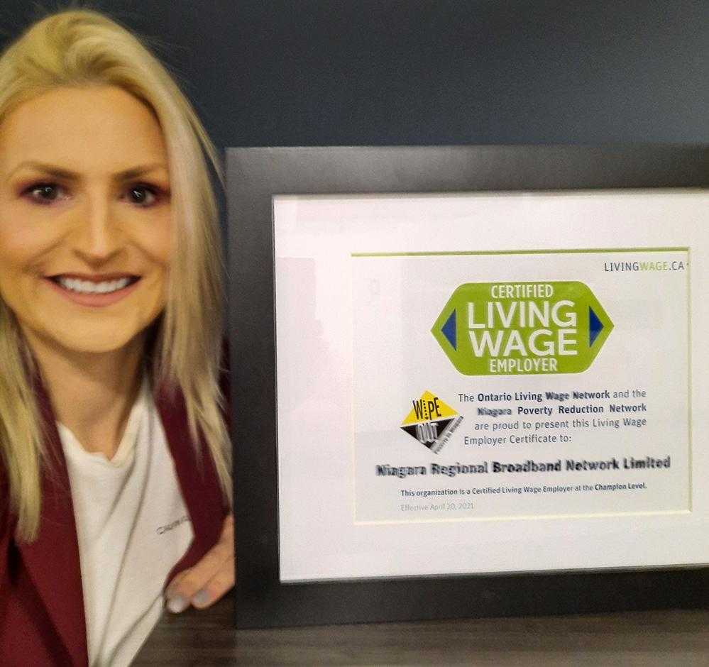Niagara Regional Broadband Network is Niagara's 50th Certified Living Wage Employer