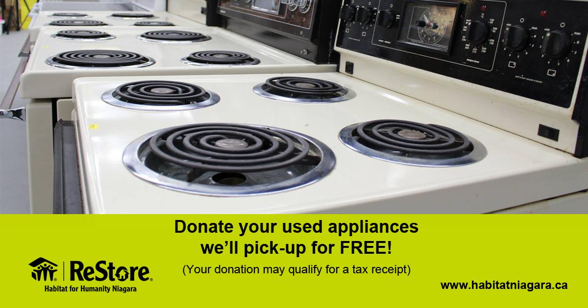 Donate Your Used Appliances Myniagaraonline