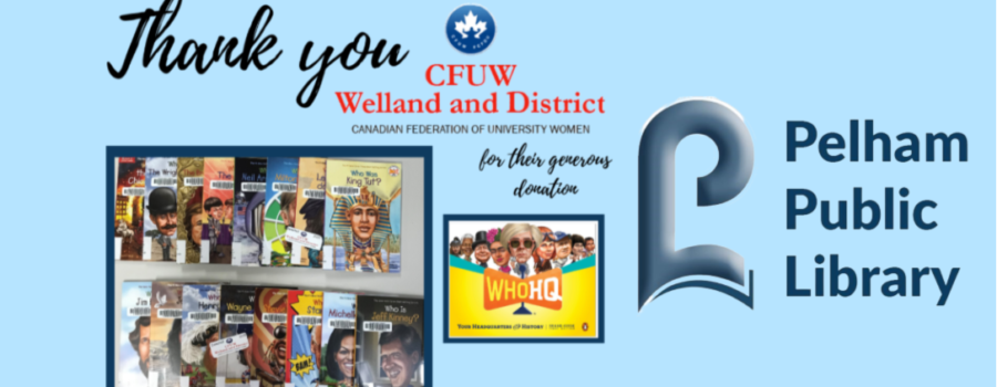 Thank You CFUW Welland and District!