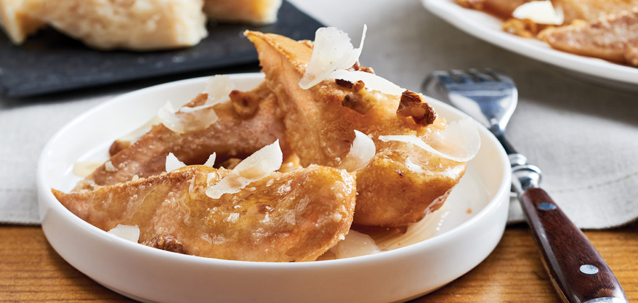 Sobeys Recipe Corner: Parm Baked Pears with Ice Wine Syrup