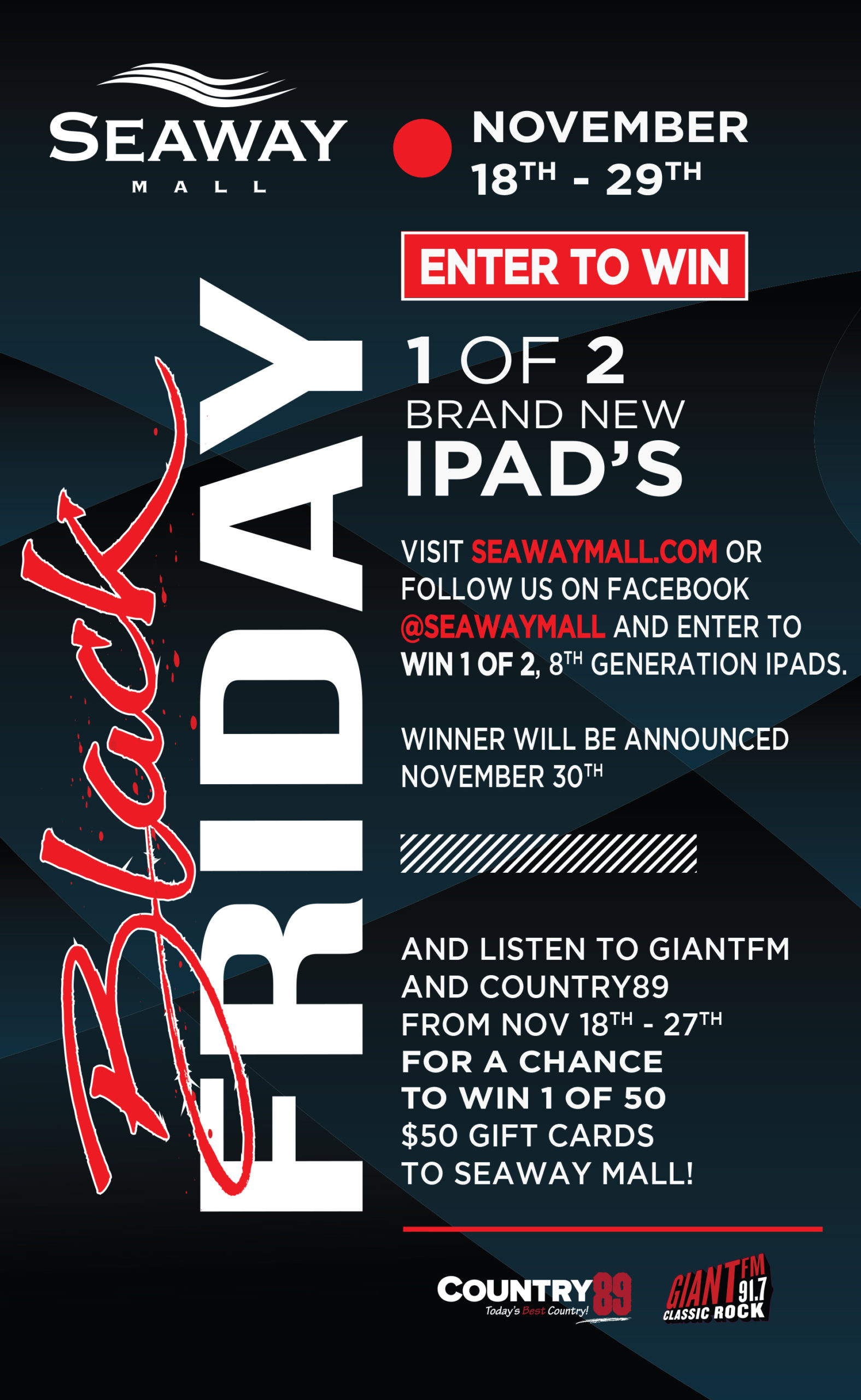 Win BIG this Black Friday with Seaway Mall
