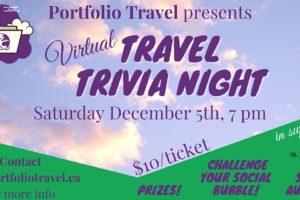 Virtual Travel Trivia in support of St.John Ambulance Niagara Region Branch