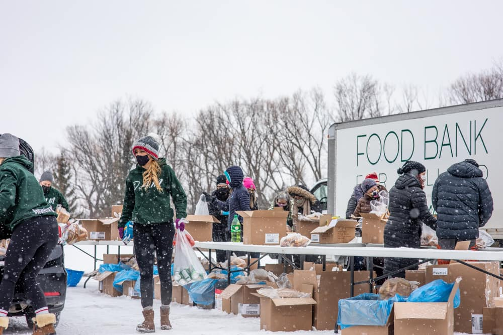 Open Arms Mission Hosts Free Food Giveaway at Welland Arena