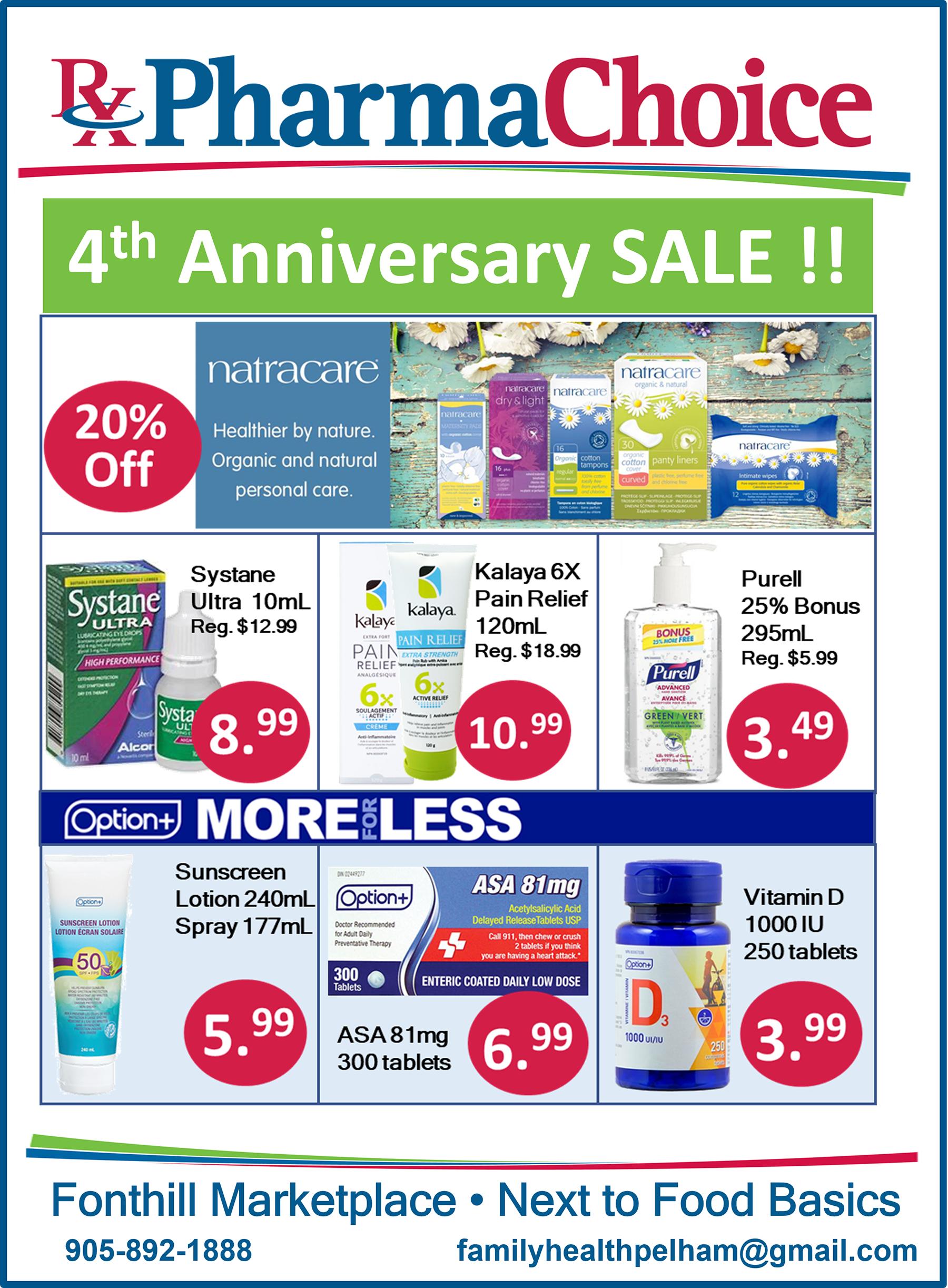 4th Anniversary Celebration Savings