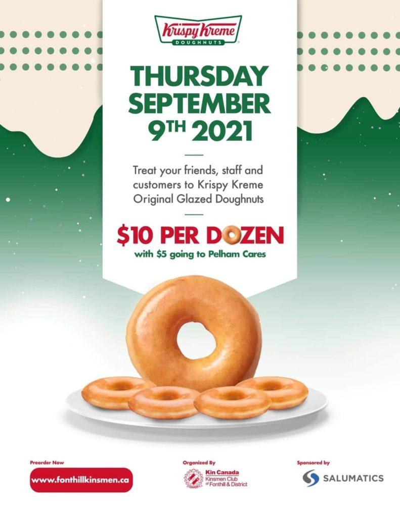 Krispy Kreme Fundraiser by Kinsmen Club for Pelham Cares