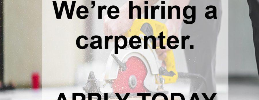 Help Wanted! Full Time Carpenter/Multi-tasker