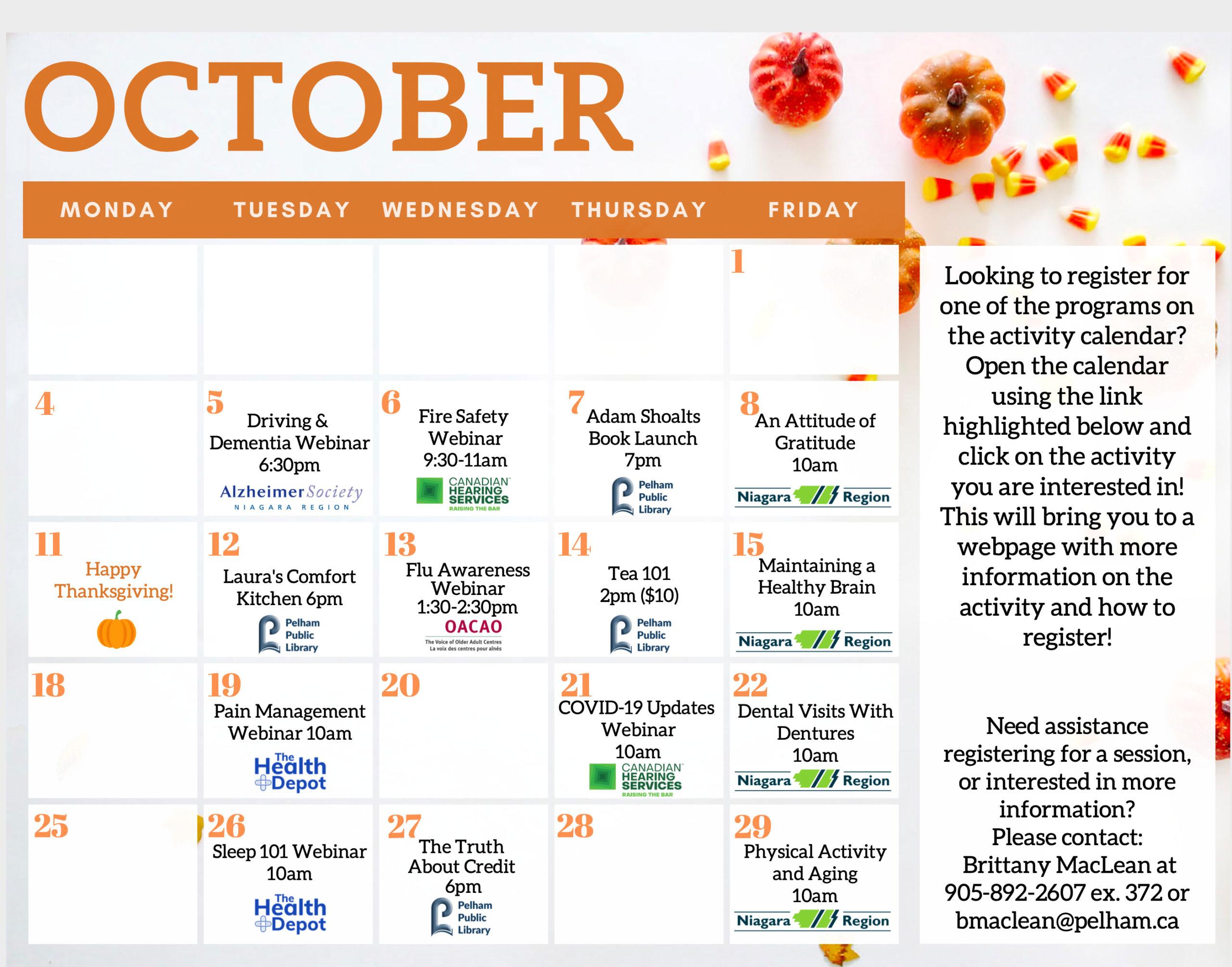 Seniors Calendar