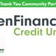 Renouveau Community Partner Thank you to PenFinancial Credit Union