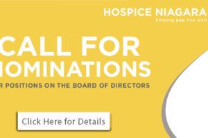 Call for Nominations – Hospice Niagara Board of Directors