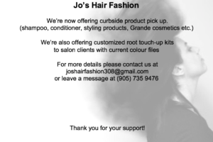 Jo's Hair Fashions Offers Curbside Pickup