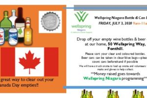 Save Your EMPTIES for Wellspring Niagara!