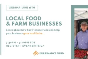 Loan Info Session: Helping Local Food & Farm Businesses Grow & Thrive