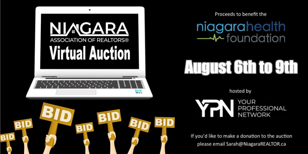 Announcing Niagara Associations of Realtors Virtual Auction in Support of Niagara Health Foundation