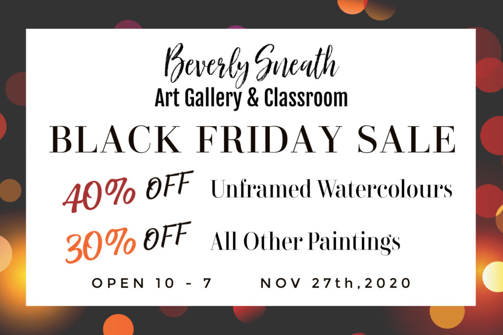 Black Friday Sale on Watercolours and Paintings