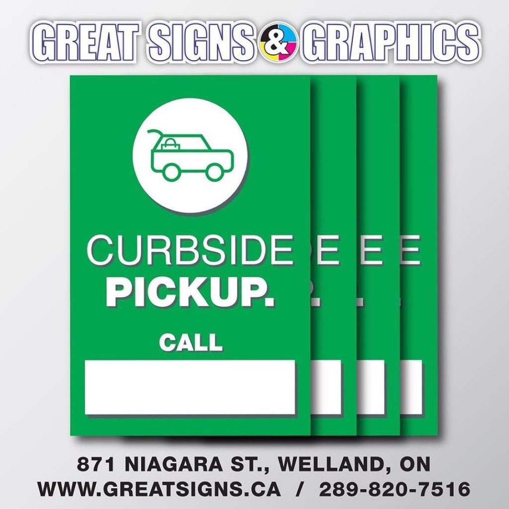 Local Helping Local – Get Your FREE Curbside Pickup Sign