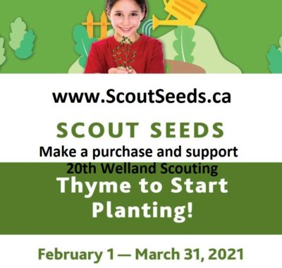20th Welland Scouts Canada: Scoutseeds