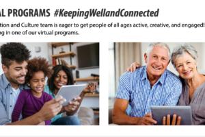 VIRTUAL PROGRAMS  #KeepingWellandConnected