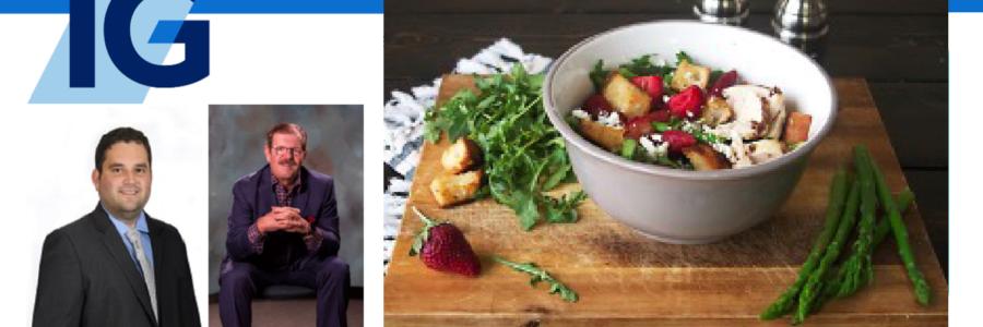 Asparagus and Strawberry Panzanella Salad