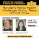 SAVE THE DATE! Employer Learning and Resource FREE Webinar on Managing Mental Health