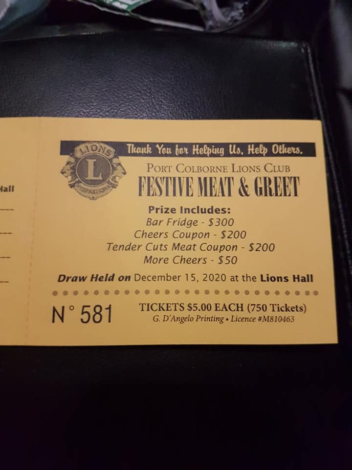 Support Port Colborne Lions Festive Meat & Greet Draw