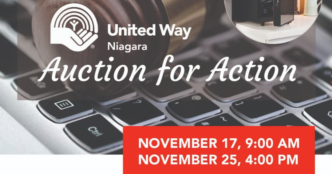 United Way Niagara ONLINEAUCTIONNow Open!