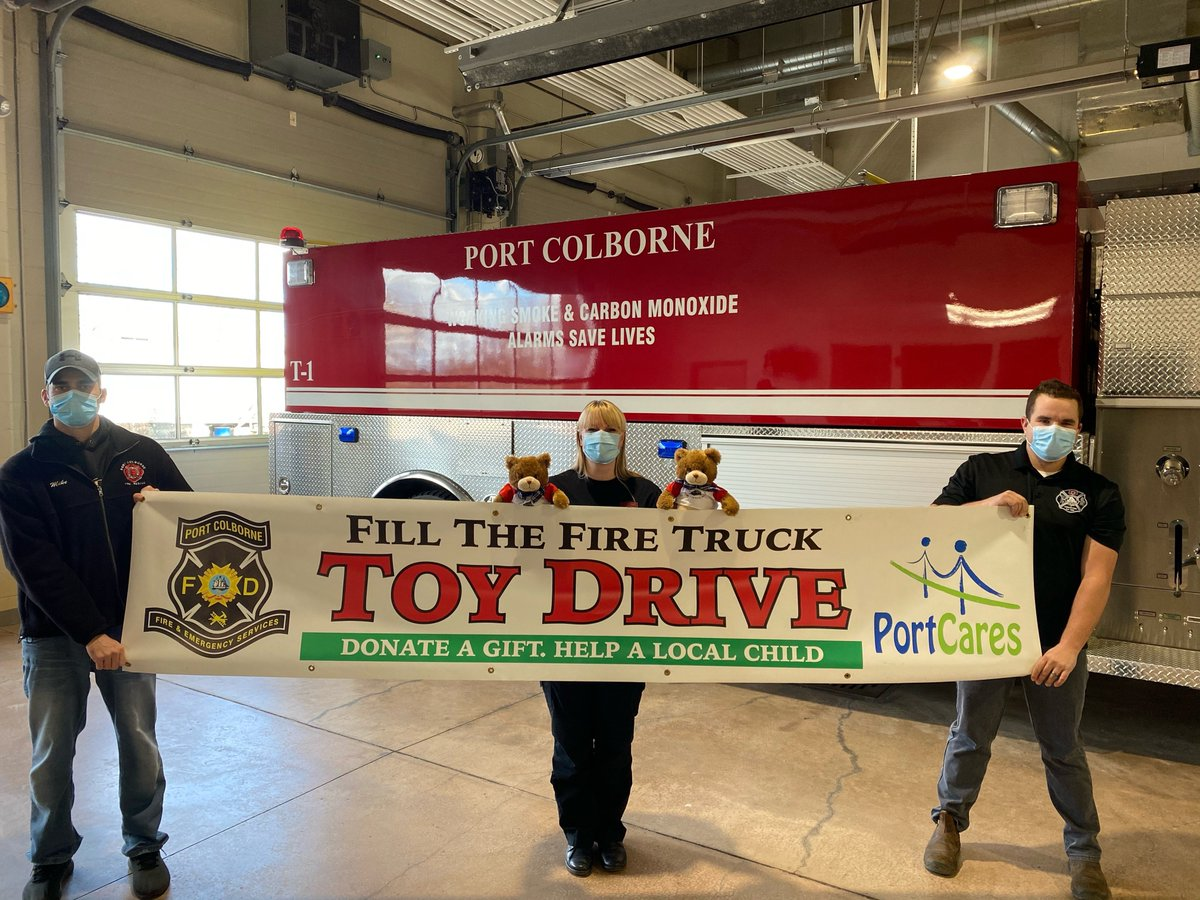 Port Colborne Fire and Emergency Services 'Fill the Fire Truck' Toy Drive This Saturday!