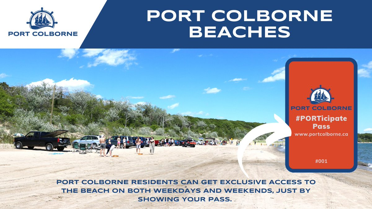Port Colborne Residents Get Your FREE Access to the Beach
