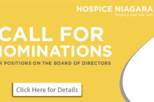 Call for Nominations – Hospice Niagara Board of Directors