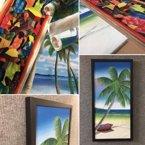 This Month at Framecraft – Island Artwork makes Beautiful Home Decor
