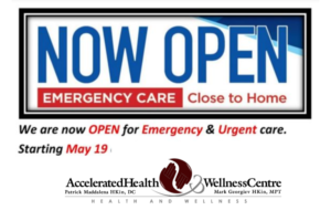 Accelerated Health & Wellness Centre opening May 19th