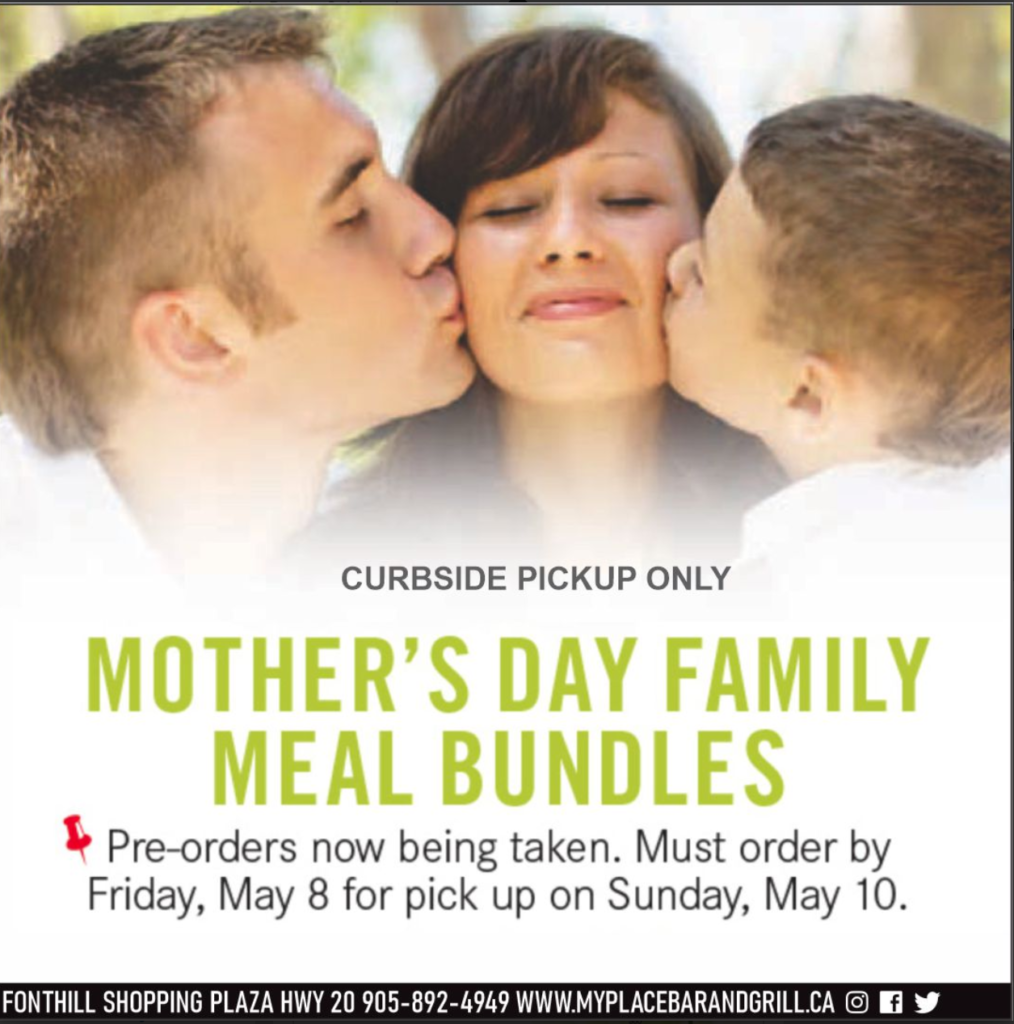 Order your Mother's Day 'Family Meal Bundle' at My Place