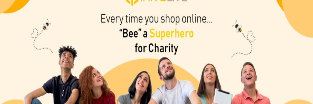 Every Time You Shop Online  BEE a Superhero for your Favourite Charity with @ihiveLIVE