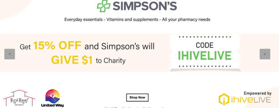Simpson Pharmacy Partners with ihiveLIVE to Generate Funds for Red Roof Retreat & United Way Niagara
