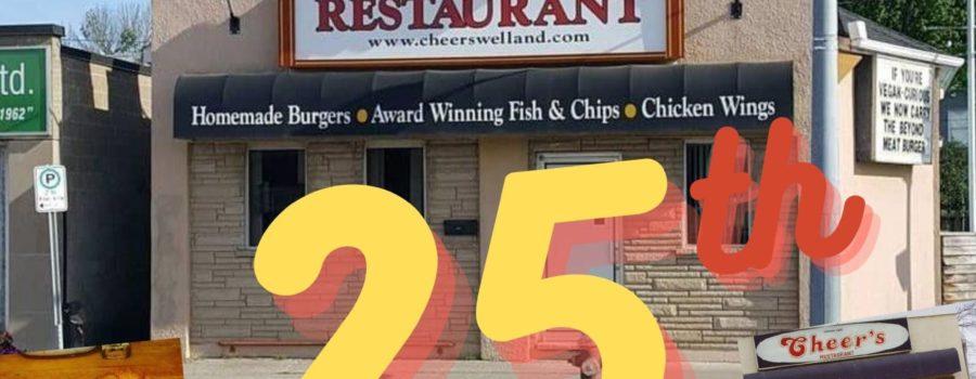 Happy 25th Anniversary to Cheers Restaurant!