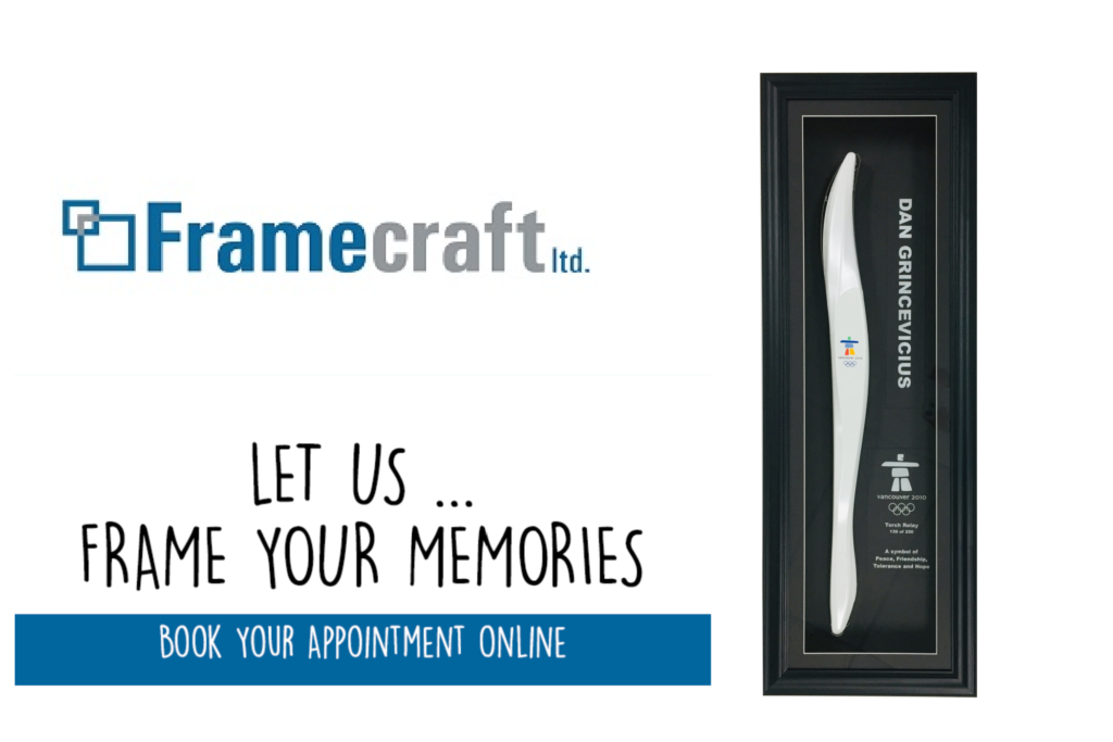 Framecraft Ltd: This Week's Framing Inspiration! Olympic Torch