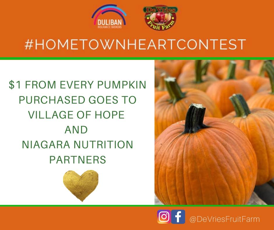 Hometown Heart Fundraiser and Decorating Contest in Support of Village of Hope and Niagara Nutrition Partners