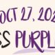 #SaveTheDate! Dress Purple Day – Tuesday, October 27, 2020.
