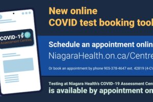 Niagara Health launches new online COVID test booking tool