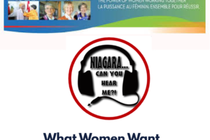 Niagara Can You Hear Me?  What Women Want…Need…Deserve
