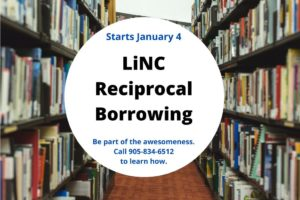 LiNC Reciprocal Borrowing available at Port Colborne Public Library