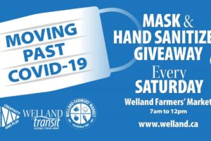 Moving Welland Past Covid-19 – Mask And Hand Sanitizer Giveaway